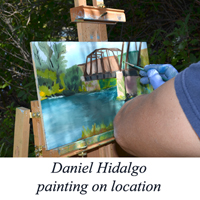 Daniel Hidalgo plein air painting