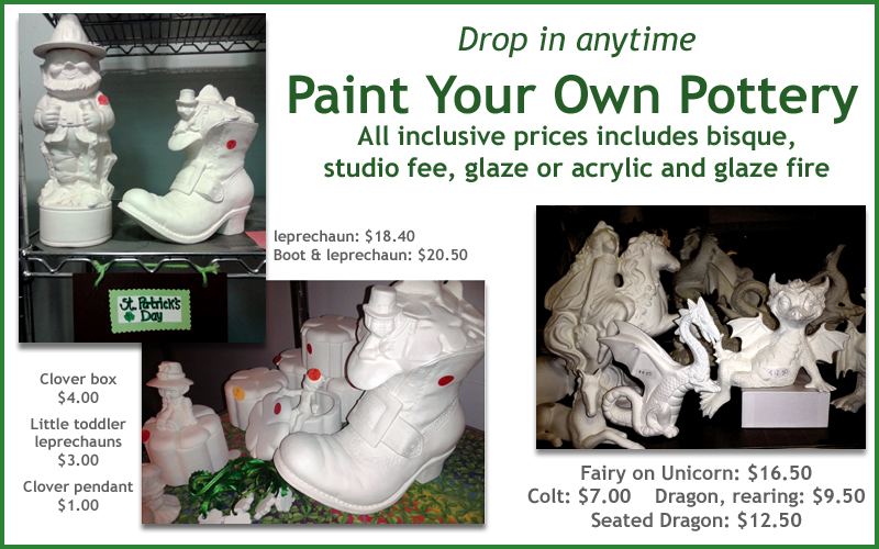 Drop in ceramic studio