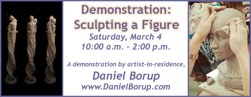 Daniel Borup's artist residency sculpture demonstration